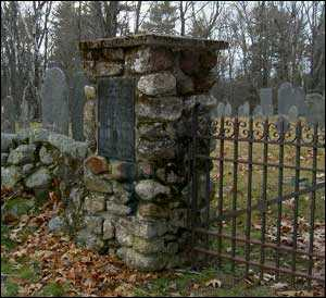 gate into an old cemetery