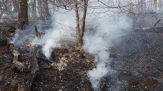 Fire smoldering