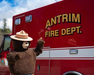 Smokey with Antrim Ambulance